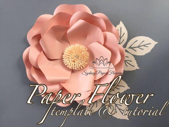 Wild Rose Paper Flower Template  U0026 Tutorial With Pdf  Svg