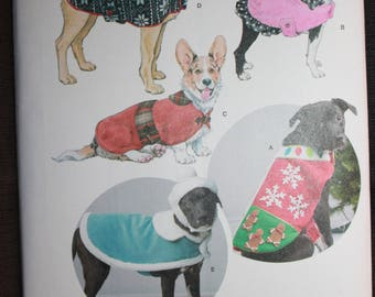 Simplicity 8277  Dog Coats and Hats in Three Sizes