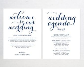 Hochzeit Agenda Etsy