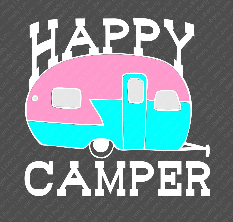 Happy Camper Design / SVG / Clip Art / Camping / Adventure