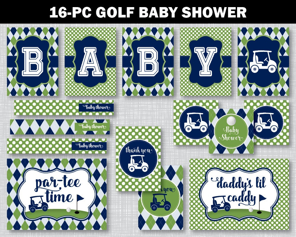 Golf baby shower decor golf baby shower golf baby shower for Baby golf room decor
