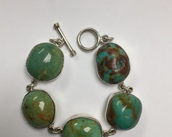 Turquoise in Matrix Bracelet