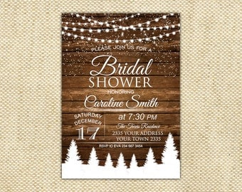 Winter rustic bridal shower invitation christmas bridal winter bridal shower invitation bridal shower bridal shower invitation rustic bridal shower invitation filmwisefo Choice Image