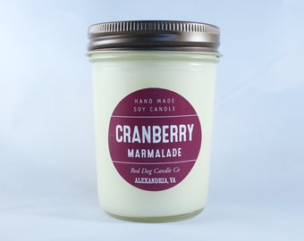 Cranberry Marmalade Handmade Soy Candle | Candle Gift | Thanksgiving Candle