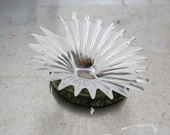 Vintage Dartington Crystal 'Palm Dish' By Anita Harris. Early 80s. Mint Condition