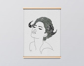 Girl with Thorns  Art Print