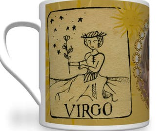 Personalised Virgo Zodiac Mug - Great Personalised Birthday Gift.