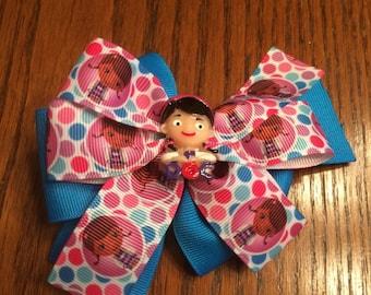 Doc McStuffins Hair Bow, Girls Hair Bows, Hair Bows
