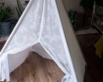 Play Tent- Handmade- Kids Room- Play Room- Play Tent Canada- TeePee