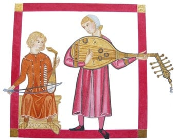 Rabab and lute ud players