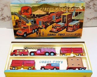 Corgi Chipperfields Circus Models Gift Set No.23, First Issue Early 1960s