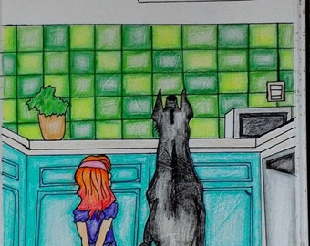 Cookie Jar 8.5x11 Drawing