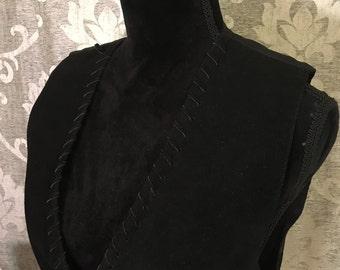 The Mattie Ross Leather Vest-Medium