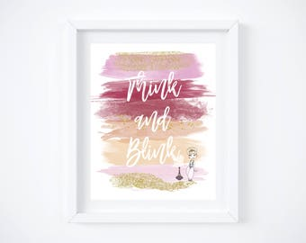 "I Dream of Jeannie Watercolor Brush Art Print with Quote:  8"" x 10"""