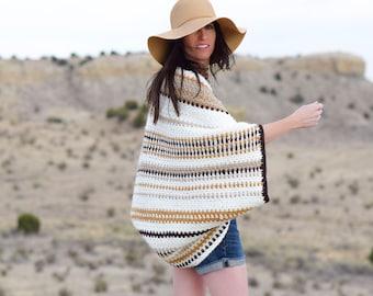 Crochet Blanket Sweater, Crocheted Cacoon, Crochet Sweater Pattern, Crocheted Shrug Pattern, Cacoon Pattern, Easy Crochet Pattern, Summer