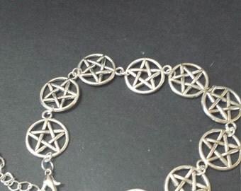 Wicca, pagan pentacle bracelet