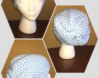 Slouchy hat beanie in light blue