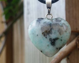 Sesame Jasper Heart Necklace