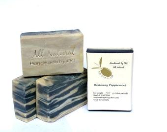 Rosemary Peppermint Soap (all vegan) 120+/-10g