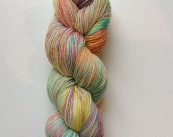 Purls of Wisdom - hand dyed worsted weight yarn - 100% superwash merino