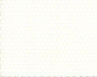 White Dot on White Ruby Cream - Bonnie & Camille Basics - cotton fabric