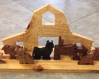 Handmade Farm Diorama Puzzle
