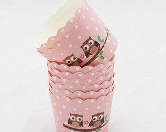 12 pcs/Set Baby Owl  Cupcake Liner Baking Cups/Cupcake Paper Muffin/Candy Cups