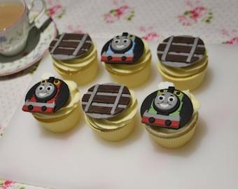 Thomas and Friends Train Fondant Edible Cupcake Toppers