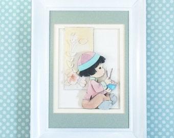 Nursery wall art, Asian nursery theme, Precious moments, Baby wall print