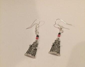 Dr who earrings, Dalek earrings, Dr who Jewellery, Dalek jewellery, Dr Who jewelry item 413 by CraftyLittleMonkeyGB