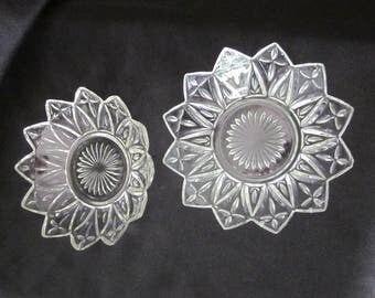 Indiana Federal Glass Petal Bowl Set of Two (2)