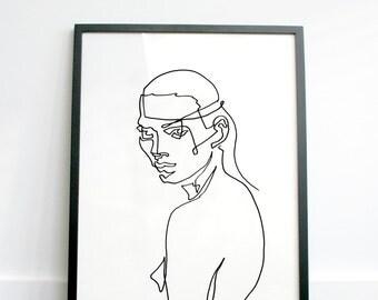 LEILA - continuous line print