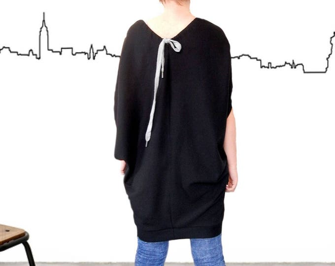 Flattering Rakish Dress Tunic / Oversized Dashing Top Tunic / Lax Slack Plus Size Dress / Loose Fitting Casual Relaxed Dress / Mod Daring