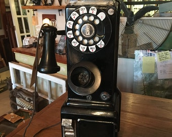 Vintage 1930's 3-Coin Payphone