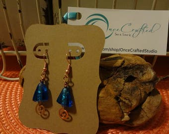 Copper Blue Earrings