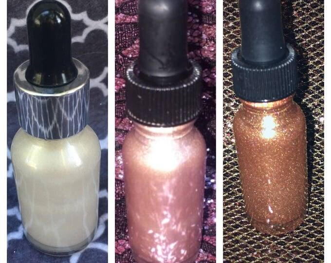 BASICS TRIO - SkinLite Bundle - White, Pink, & Bronze - Liquid Highlighters / Illuminators