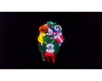 Disney Nightmare Before Christmas Wreath Attacking Toys Teddy