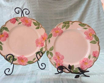 Franciscan Brothers Dessert Rose Dinner Plates