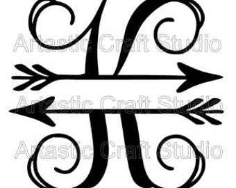 Split K Arrow Initial SVG
