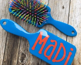 Personalized Paddle Hair Brush, Paddle Brush, Paddle Hair Brush, Hair Brush, Cheerleading Gift, Dance Team Gift, Party Favor