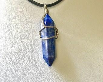 Wrapped Lapis Lazuli Pendant