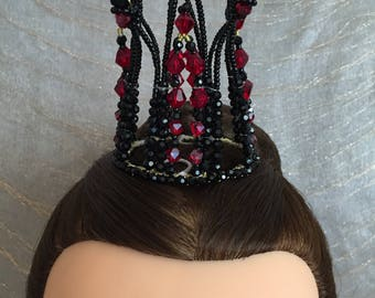 """Black and red headpiece for Evil Fairy"""" Carabosse"""" in """"Sleeping Beauty"""""""
