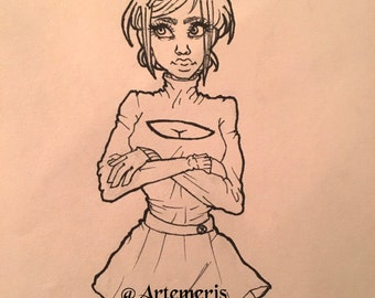 Original drawing ''Buns'' by Artemeris