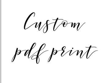 Custom pdf Print