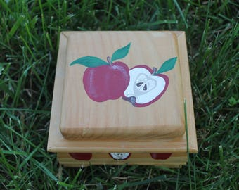 Apple Painted Box