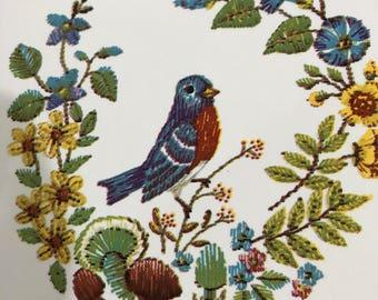 Vintage Mom's Kitchen Trivet, Bird Trivet