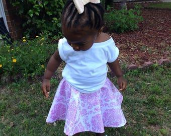 Toddler Skirt, Toddler Circle Skirt, Girls Circle Skirt, Toddlers circle skirt, girls skirt