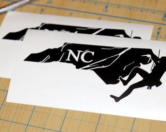 North Carolina Rock Climbing Sticker | North Carolina Mountain Climbing Decal