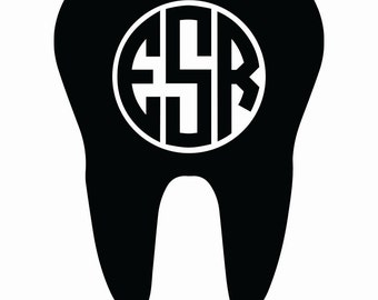 Monogram Dentist Stick-on or Iron-on Decals