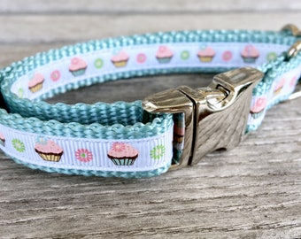 "Little Cupcakes 5/8"" Dog Collar"